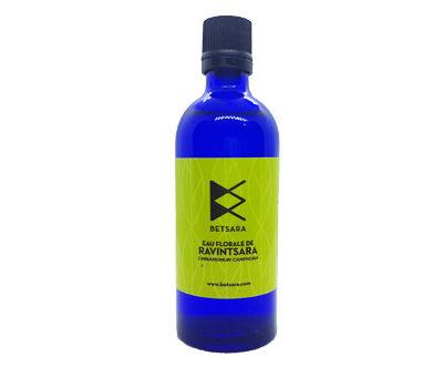 Hydrolat de ravintsara betsara récolté à la main certifié bio